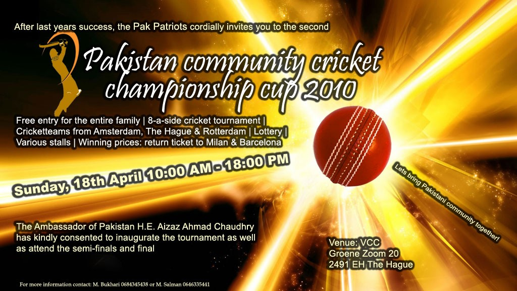 2nd Pakistan Championship Cup - Zondag 18 April 2010